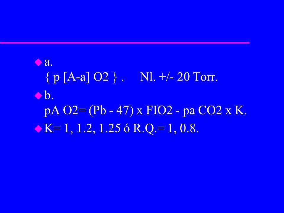a. { p [A-a] O2 } . Nl. +/- 20 Torr.